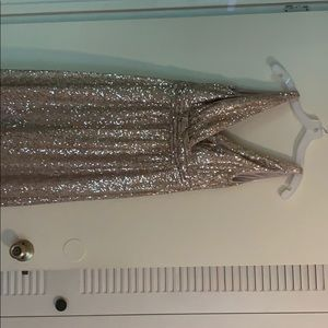 Beautiful floor length gold sequin dress